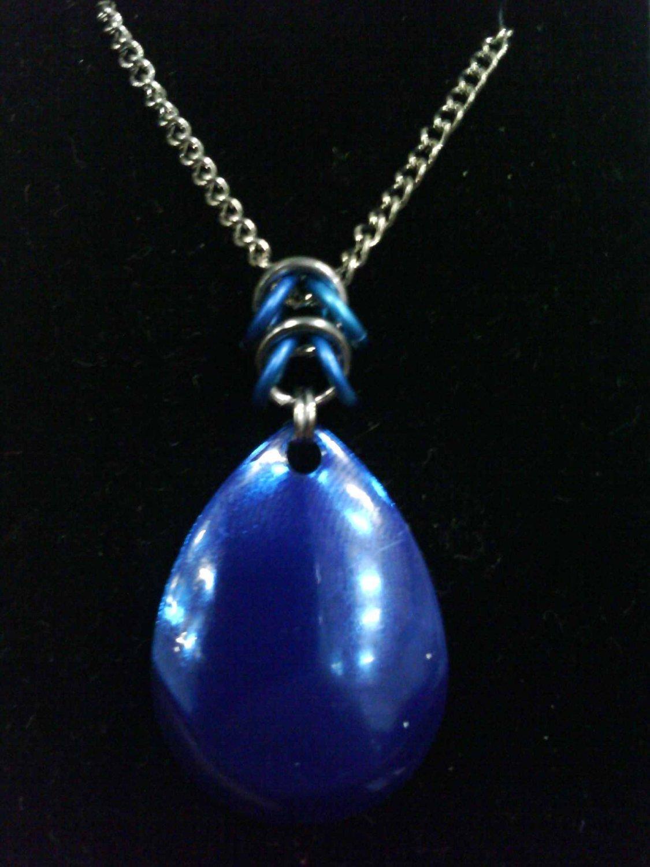 Blue Teardrop Necklace (Aluminum)