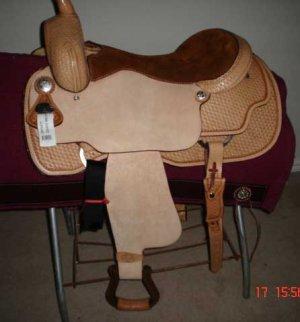 "17"" western coast cutter saddle"