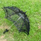 black lace parasol umbrella elegant wedding party