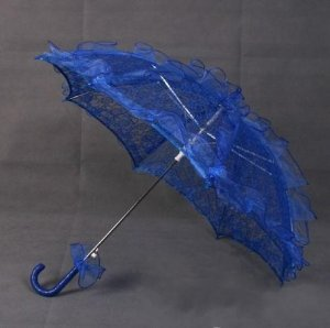 blue lace parasol umbrella elegant wedding party