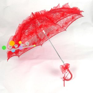 red lace parasol umbrella elegant wedding party