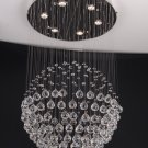 "Modern Crystal Chandelier 40""L 7 lights RAIN DROP"