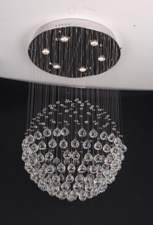 Modern Crystal Chandelier 40&quot;L 7 lights RAIN DROP