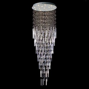 "Modern Crystal Chandelier 71""L 9 lights RAIN DROP"