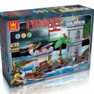 PIRATES PARADISE - BUILDING BLOCKS 349 pcs set, Compatible with LEGO.