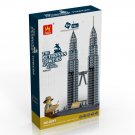 Petronas Towers of Kuala Lumpur - BUILDING BLOCKS 1160 pcs set, Compatible with LEGO.