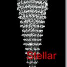 "6.75' LONG ! Modern Contemporary Spectacular Huge 81"" Egypt Crystal Chandelier"