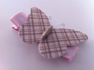 PINK PLAID BUTTERFLY