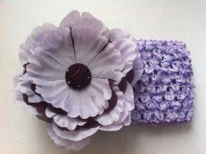 Large Purple Flower w/ headband 3 in 1