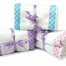 Beautiful Burp Cloths ~ Set of 2 ~ Purple