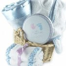 Sweet Baby Deluxe Gift Basket ~ Blue
