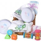 Twins Baby Gift Basket ~ Neutral