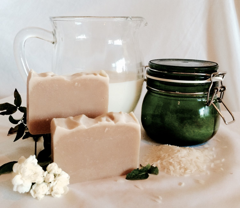Handmade Lemon & Peppermint Soap with Rice Milk