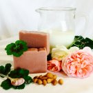 Rose Geranium Handmade Soap with Almond Milk, Pink Clay & Essential Oil