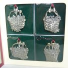 Longaberger Commemmorative Christmas Collection Basket Ornaments: Set of 4