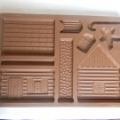 Longaberger 1996 Gingerbread Country Cabin Mold