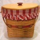 Longaberger 1998 Holiday Hostess Winter Wishes Basket Combo