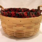 Longaberger 1998 Natural Darning Basket Combo