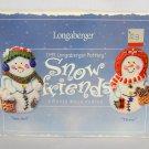 Longaberger 1999 Snow Friends Cookie Mold Set (Snowball & Flurry)
