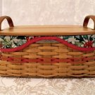 Longaberger 2002 Traditions Basket Combo (with Ribbon Dispenser Lid)