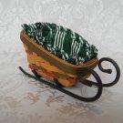 Longaberger 1999 Santa's Little Helper Sleigh Basket Combo