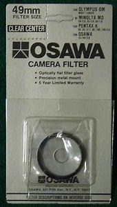 OSAWA 49 49mm CLEAR CENTER SPOT FILTER  49CS Made In Japan   BRAND NEW
