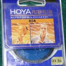 Hoya 49 49mm 80A Filter  BOTH SIDES COATED 4980A MADE IN JAPAN  New