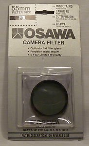 OSAWA 55 55mm Linear Polarizer 55PL Made In Japan  old stock  Brand New