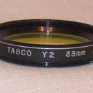 TASCO 33 33mm Yellow # 8 Filter 33Y2 MADE IN JAPAN