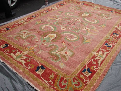 Rare Hand Made Vegetable Dyed Peshawar Oriental Chobi Rug Carpet 11x8 i30724