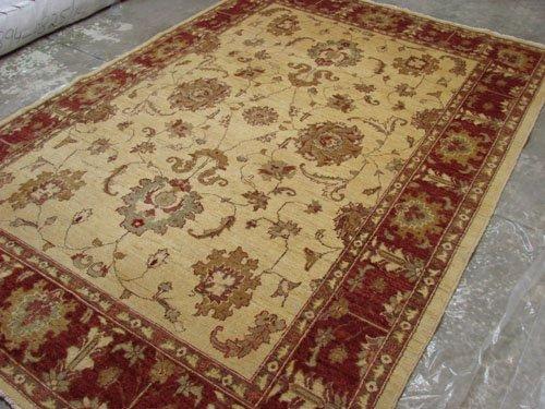 Rare Hand Made Vegetable Dyed Peshawar Oriental Chobi Rug Carpet 6x9