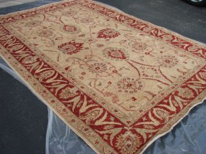 Hand Made Vegetable Dyed Peshawar Oriental Chobi Rug Carpet 10x8 i30709