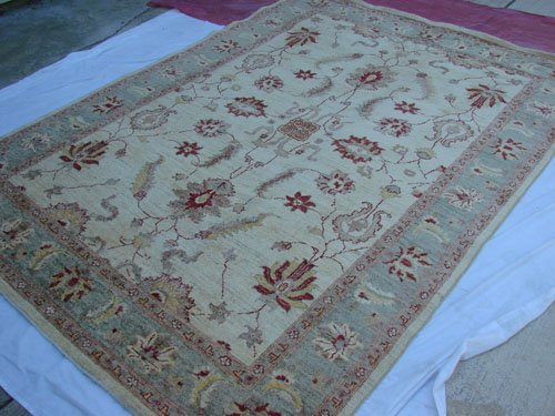 High Quality Hand Made Vegetable Dyed Peshawar Oriental Chobi Rug Carpet 9x6 i70708