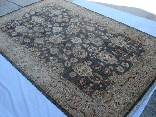 High Quality Hand Made Vegetable Dyed Peshawar Oriental Chobi Rug Carpet 9x6 i70710