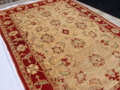High Quality Hand Made Vegetable Dyed Peshawar Oriental Chobi Rug Carpet 9x6 i70712