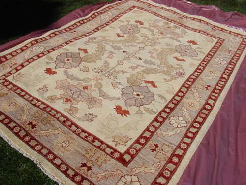 High Quality Hand Made Vegetable Dyed Peshawar Oriental Chobi Rug Carpet 9x6 i70715
