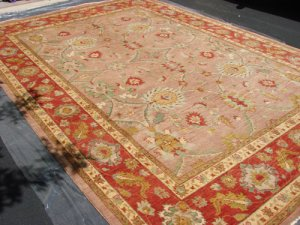 Hand Made Vegetable Dyed Peshawar Oriental Chobi Rug 13x9 i70725