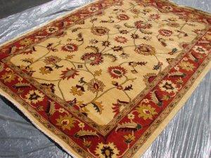 Hand Made Vegetable Dyed Peshawar Oriental Chobi Rug 6x8 i70714