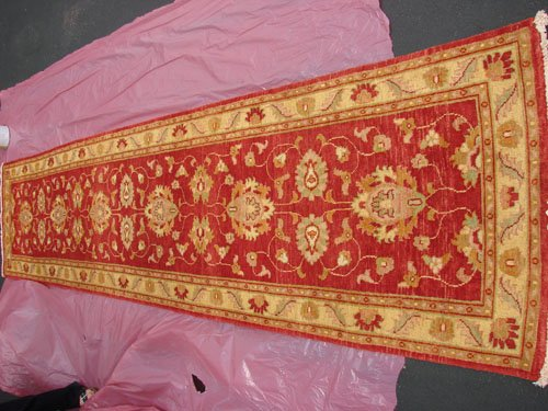 Hand Made Vegetable Dyed Peshawar Oriental Chobi Runner Rug 13x3 i70718