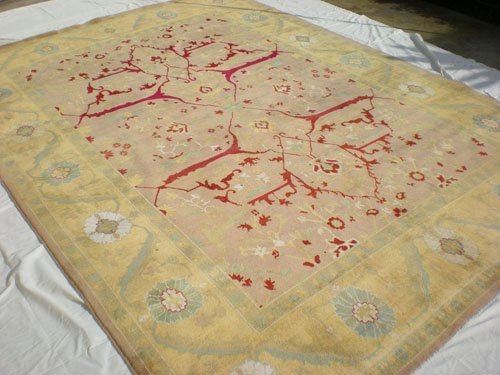 High Quality Hand Made Vegetable Dyed Peshawar Oriental Chobi Rug Carpet 12x8 i100704