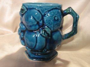 Blue Inarco Vintage mug Dimensional Fruit