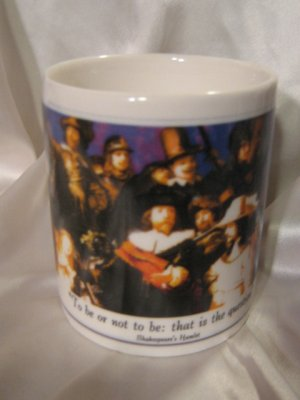 Shakespeare Hamlet Collectable Mug Coffee cup Display