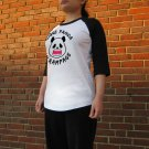 Kawaii Panda Jersey - Unisex Size XS - Doublesided - Rogue Panda - Raglan Baseball Jersey T-Shirt