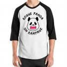 Kawaii Panda Jersey - Unisex Size XL - Doublesided - Rogue Panda - Raglan Baseball Jersey T-Shirt