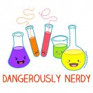 Kawaii Hoodie - Size XL - White - Dangerously Nerdy Science Sweatshirt - Chemistry