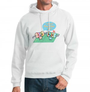 Kawaii Hoodie - Size L - White - Resistors Physics Sweatshirt