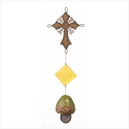 Old World Cross and Bell Chime