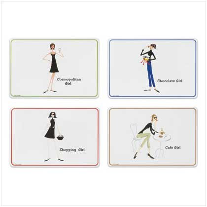4 PC. THE GIRLS PLACEMATS