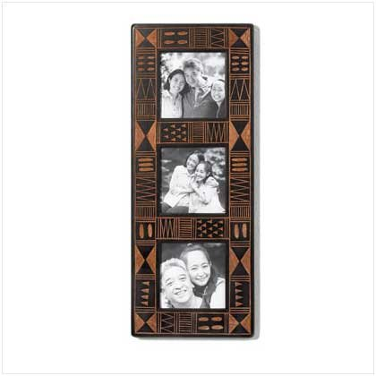 AFRICA INSPIRED 3 PHOTOS FRAME