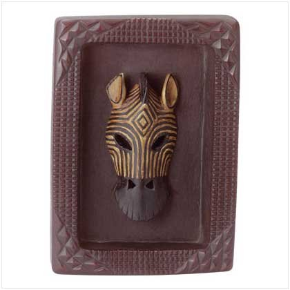ALAB. FRAMED ZEBRA MASK PLAQUE